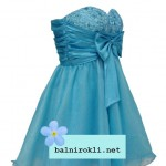 къса бална рокля с панделка
