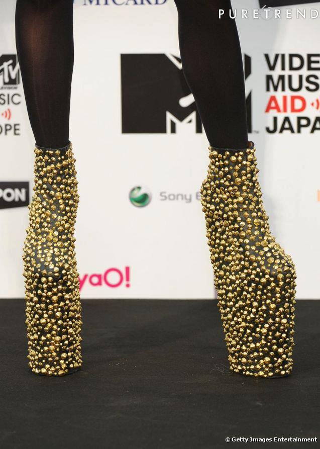 обувки модерни високи токчета Лейди Гага