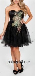 къса сладка рокля за бал черна