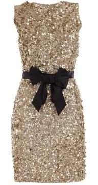 златна къса рокля