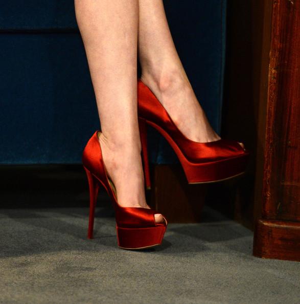 Секси Червени Обувки с Висок ток