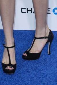 Черни Секси Отворени Обувки с Висок Ток