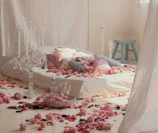 романтична спалня в бяло