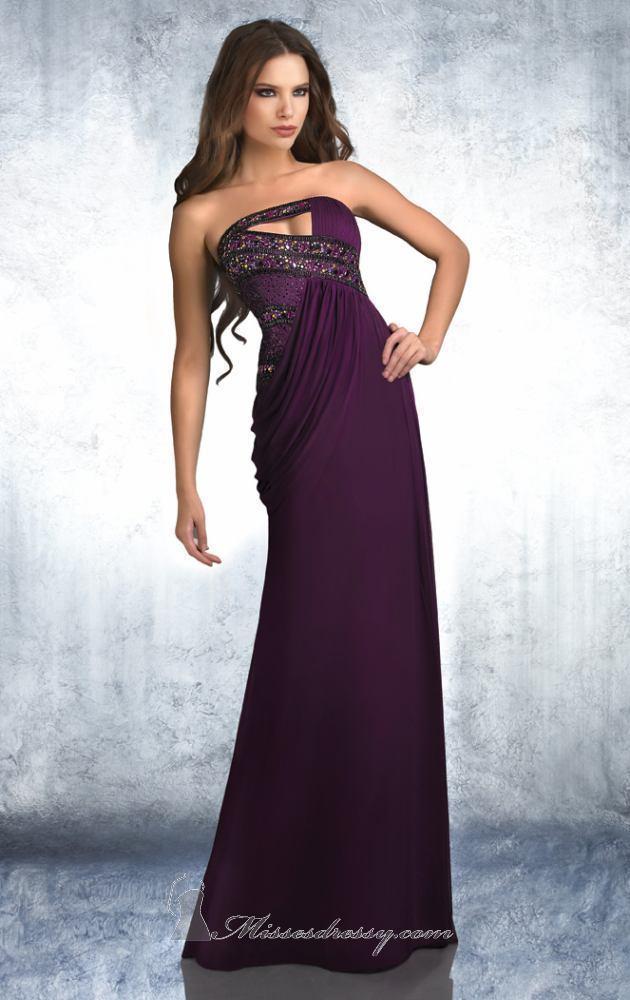 лилава дълга рокля
