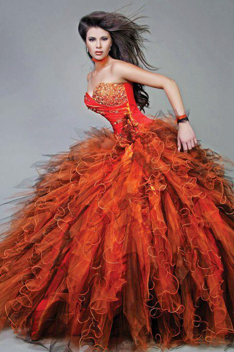 оранжева рокля