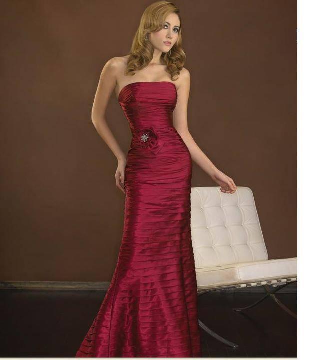 елегантна дълга бална рокля бордо