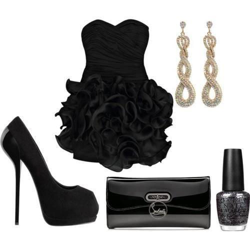 малка черна рокля с аксесоари
