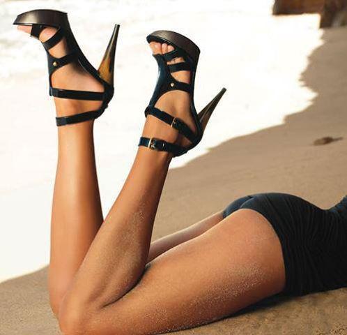 мега секси черни обувки с висок ток