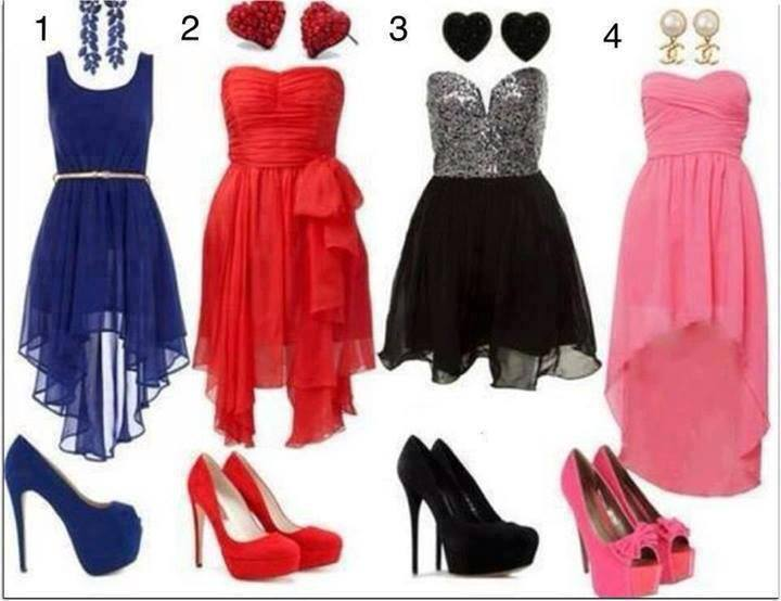 комбинация бална рокля и обувки