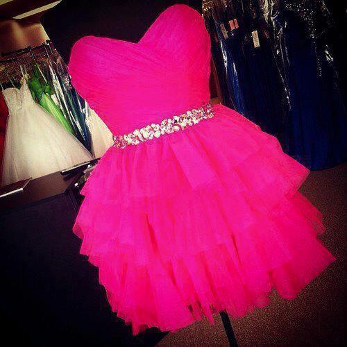 искрящо розова рокля тюл