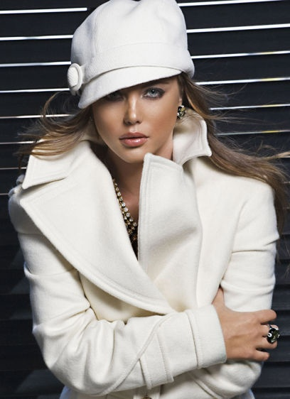 модерна  зимна дамска шапка