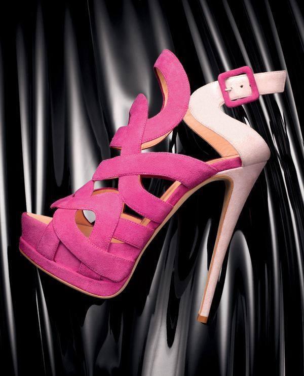 секси розови обувки