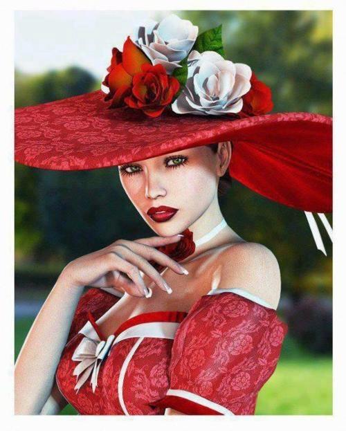 романтична дамска шапка