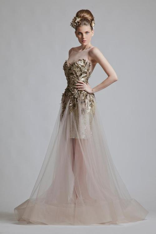 асиметрична блестяща бална рокля