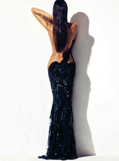 дълга блестяща бална рокля
