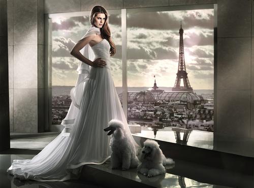 дълга ефирна бална рокля