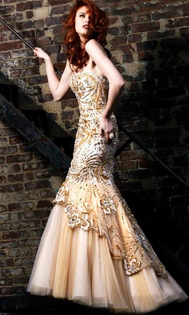 дълга бална рокля дантела