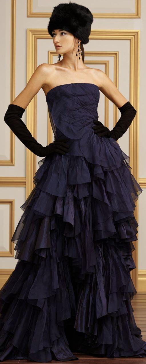 дълга бална синя рокля