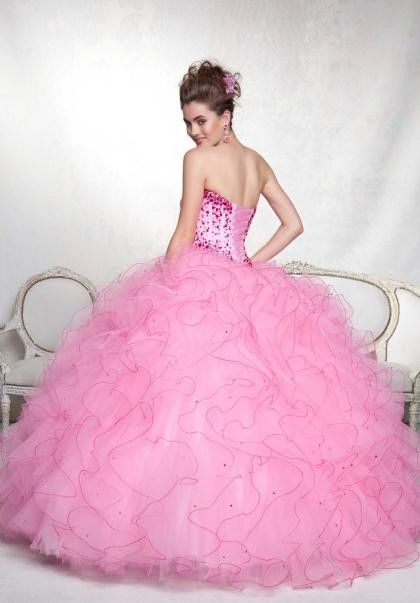 Нежно Розова Бална Рокля Принцеса