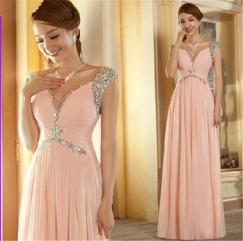 нежна розова дълга рокля