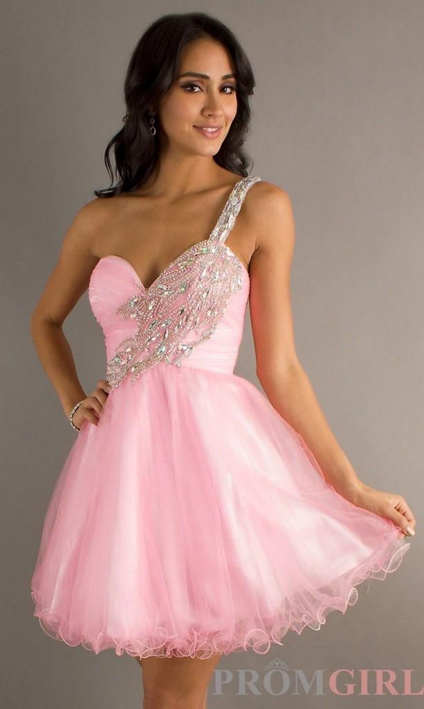 къса бална розова рокля