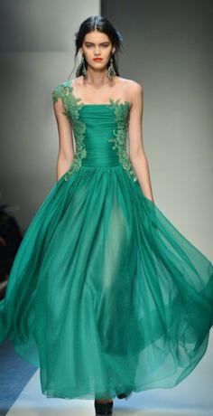 официална бална зелена рокля
