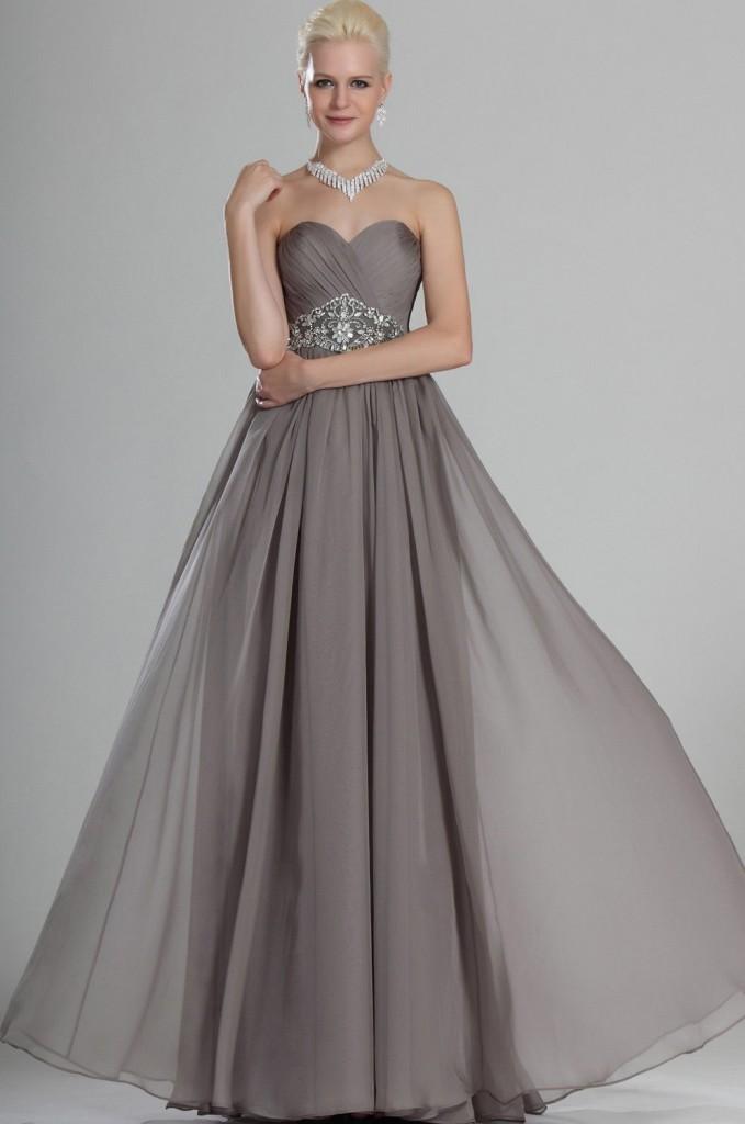 бална сива рокля