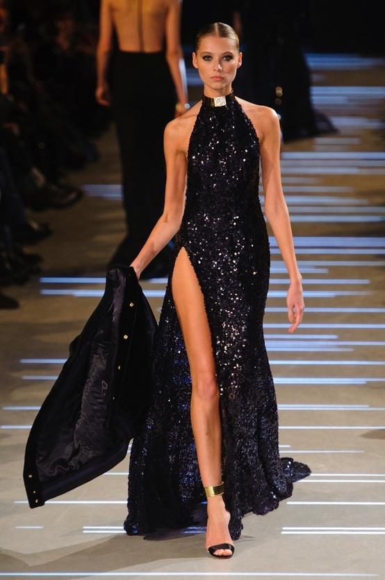 секси черна официална рокля