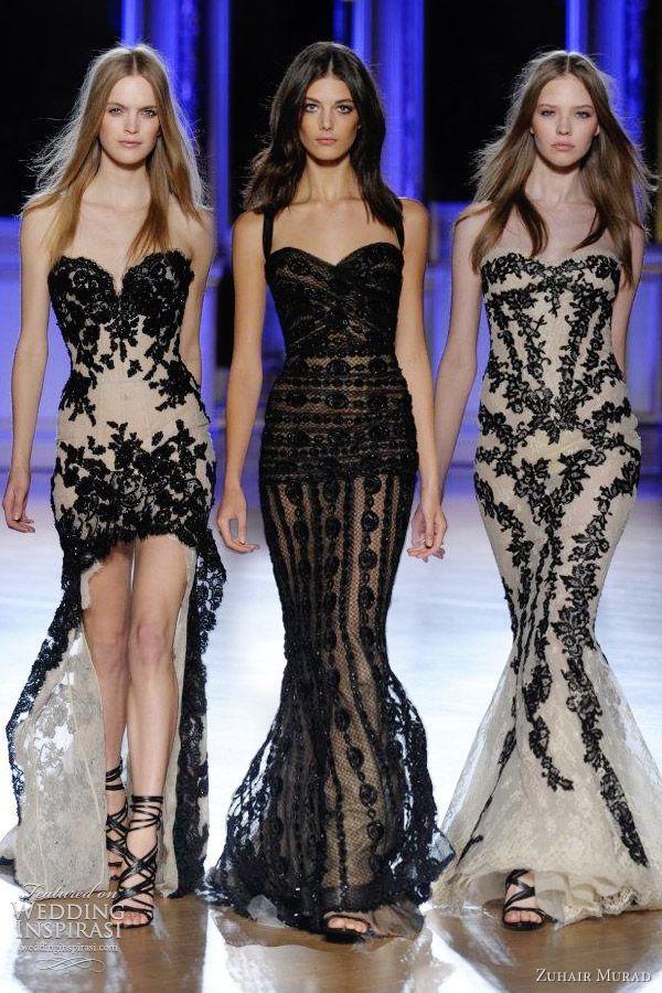 бални рокли с черна дантела