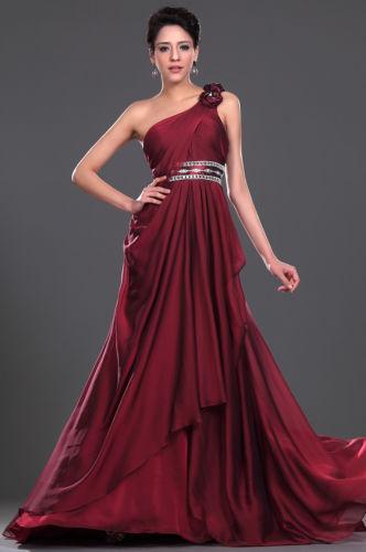 бална рокля бордо