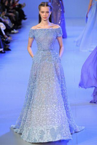 елегантна синя бална рокля
