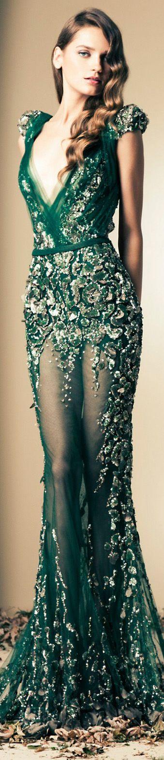 зелена дълга официална рокля