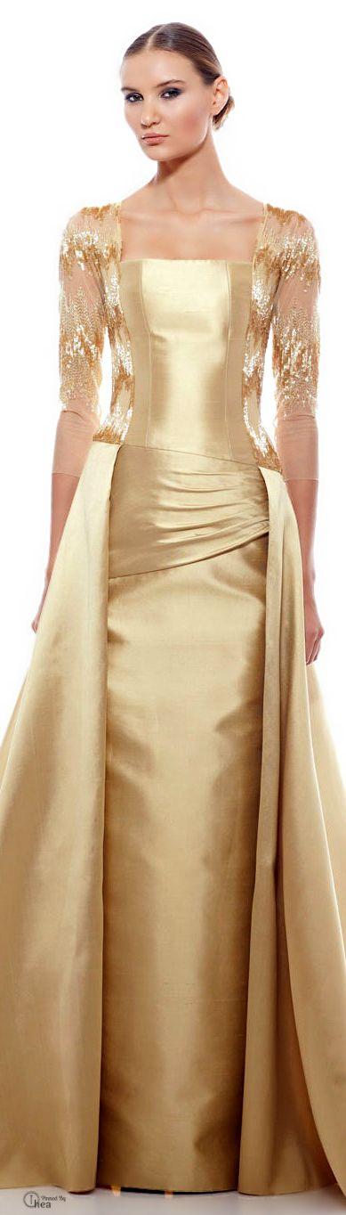 бална златна рокля