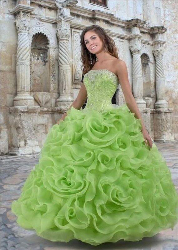 официална зелена бална рокля