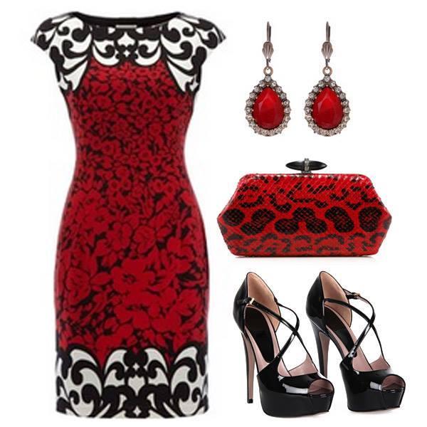 класическа комбинация червено и черно