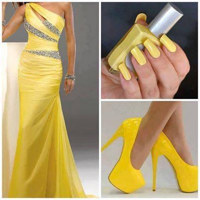 официална визия в жълт цвят