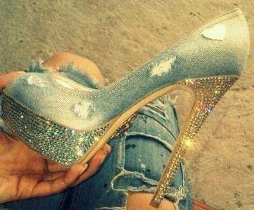 обувки с кристали сваровски