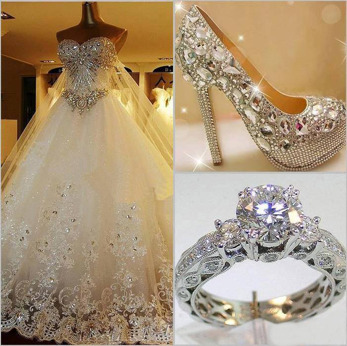 блестящи обувки с кристали сваровски