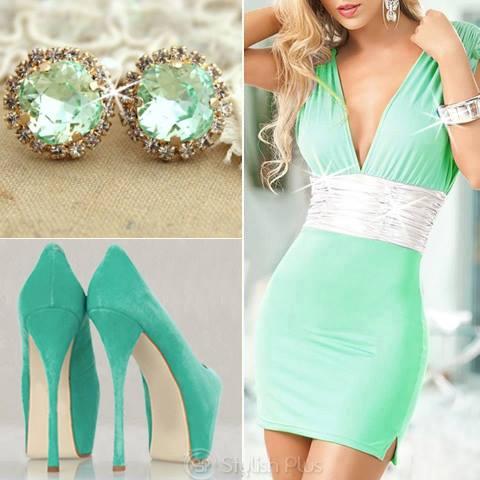зелени обувки и зелена рокличка