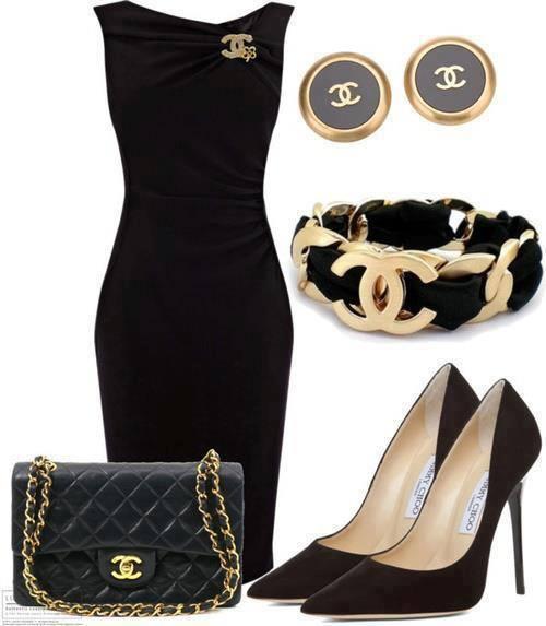 стилна комбинация черно и златно