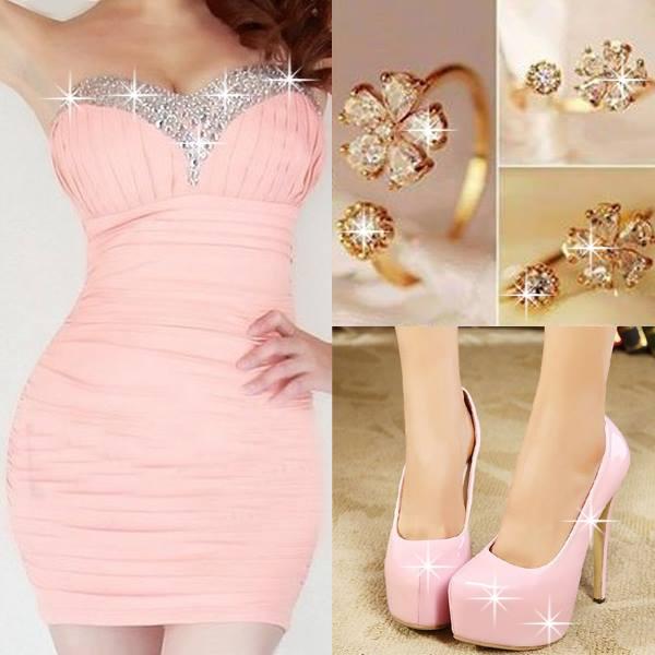 розови официални обувки