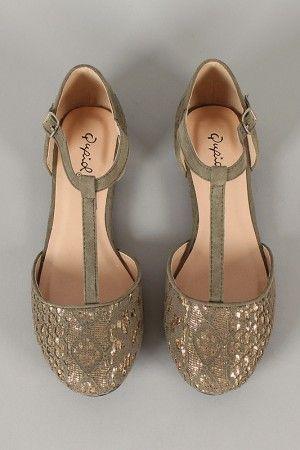 блестящи бални обувки