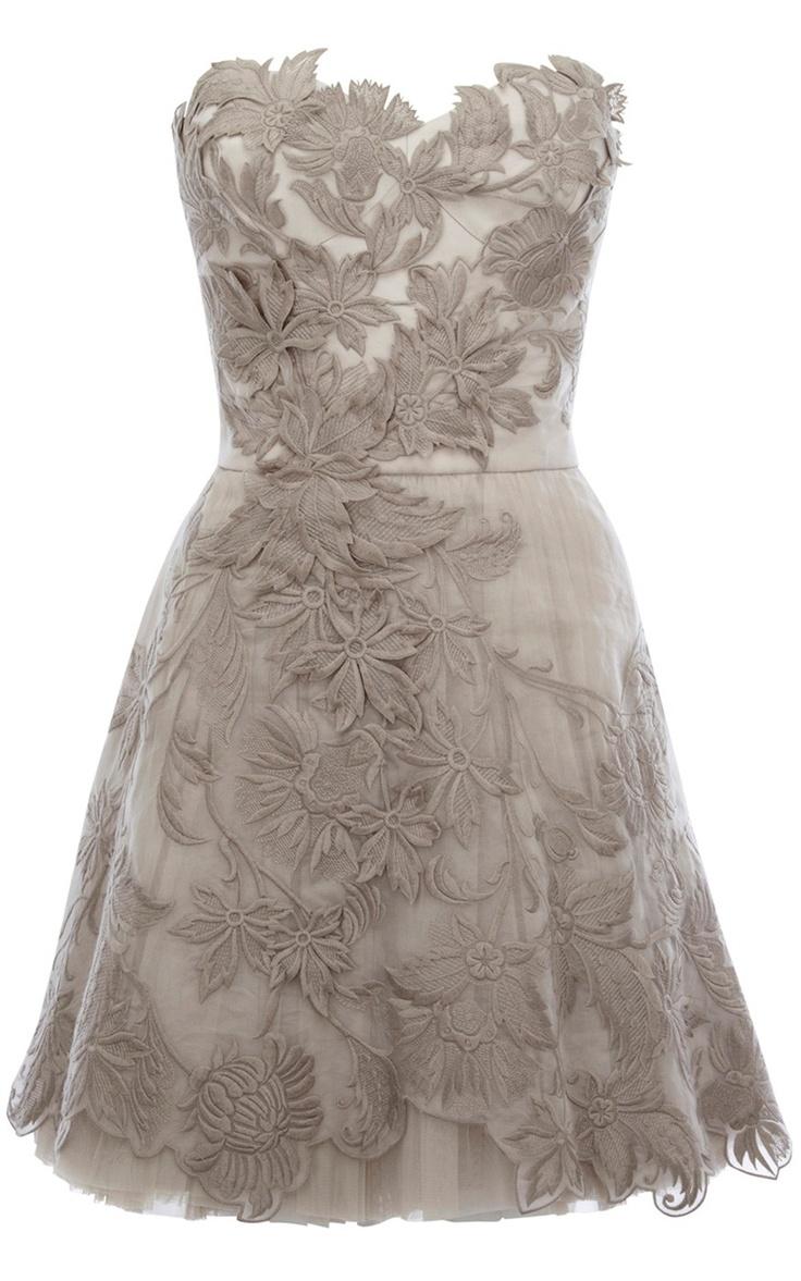 къса бална рокля с дантела