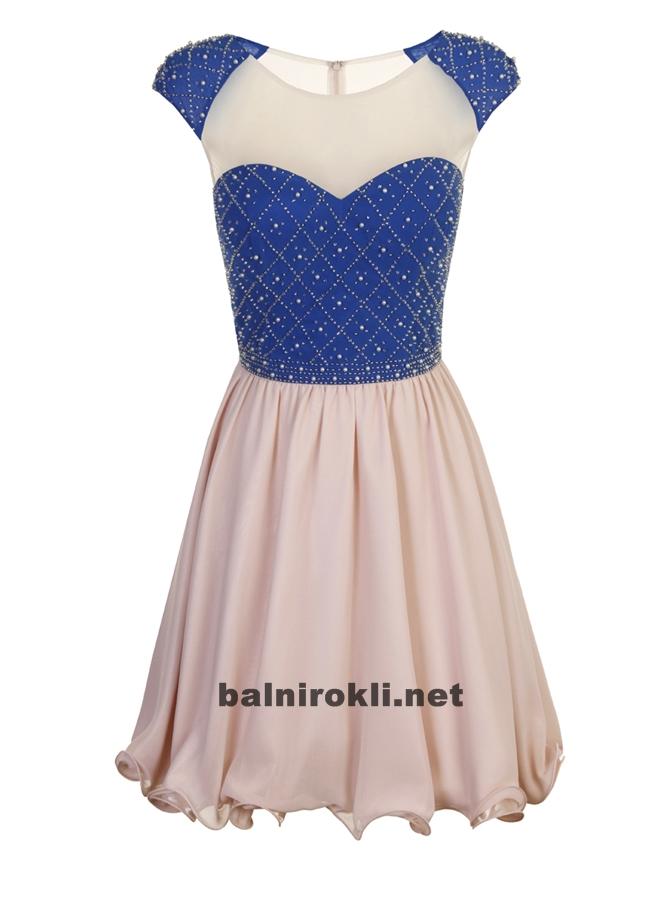 абитуриентска къса бална рокля два цвята