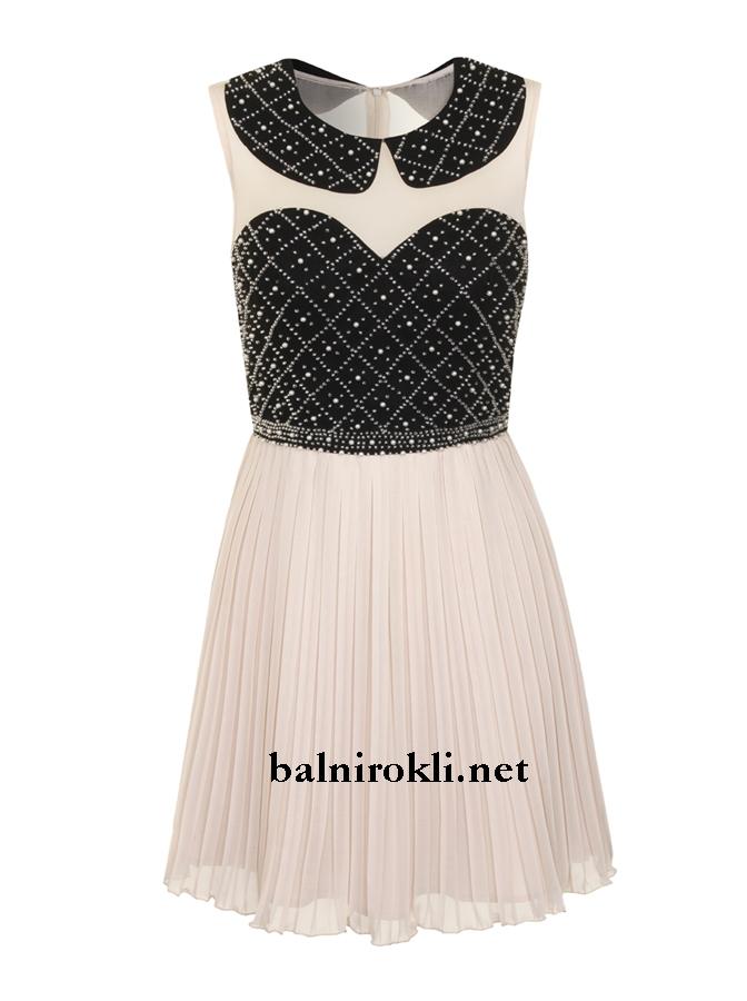 къса абитуриентска рокличка бяло и черно