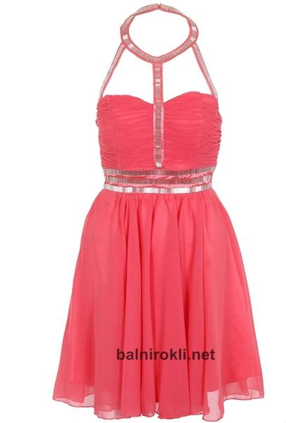 къса елегантна розова рокля