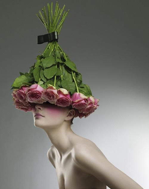 шапка от цветя