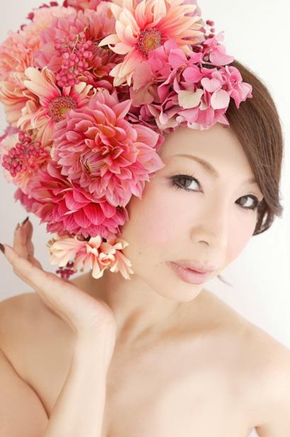 шапка цветя