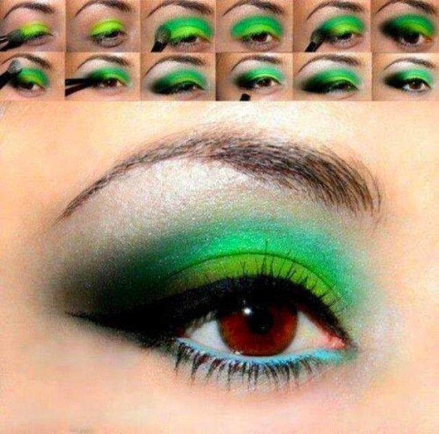 зелен грим