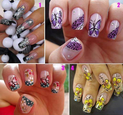 няколко идеи за шарени нокти